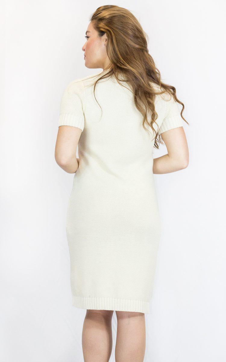 Vestido punto beige