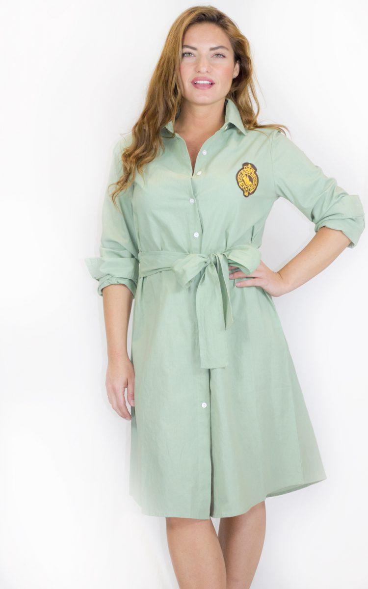 Vestido verde escudo